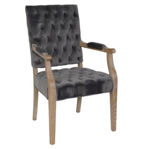 Rosa Steel Arm Chair - Sarah Virginia Home
