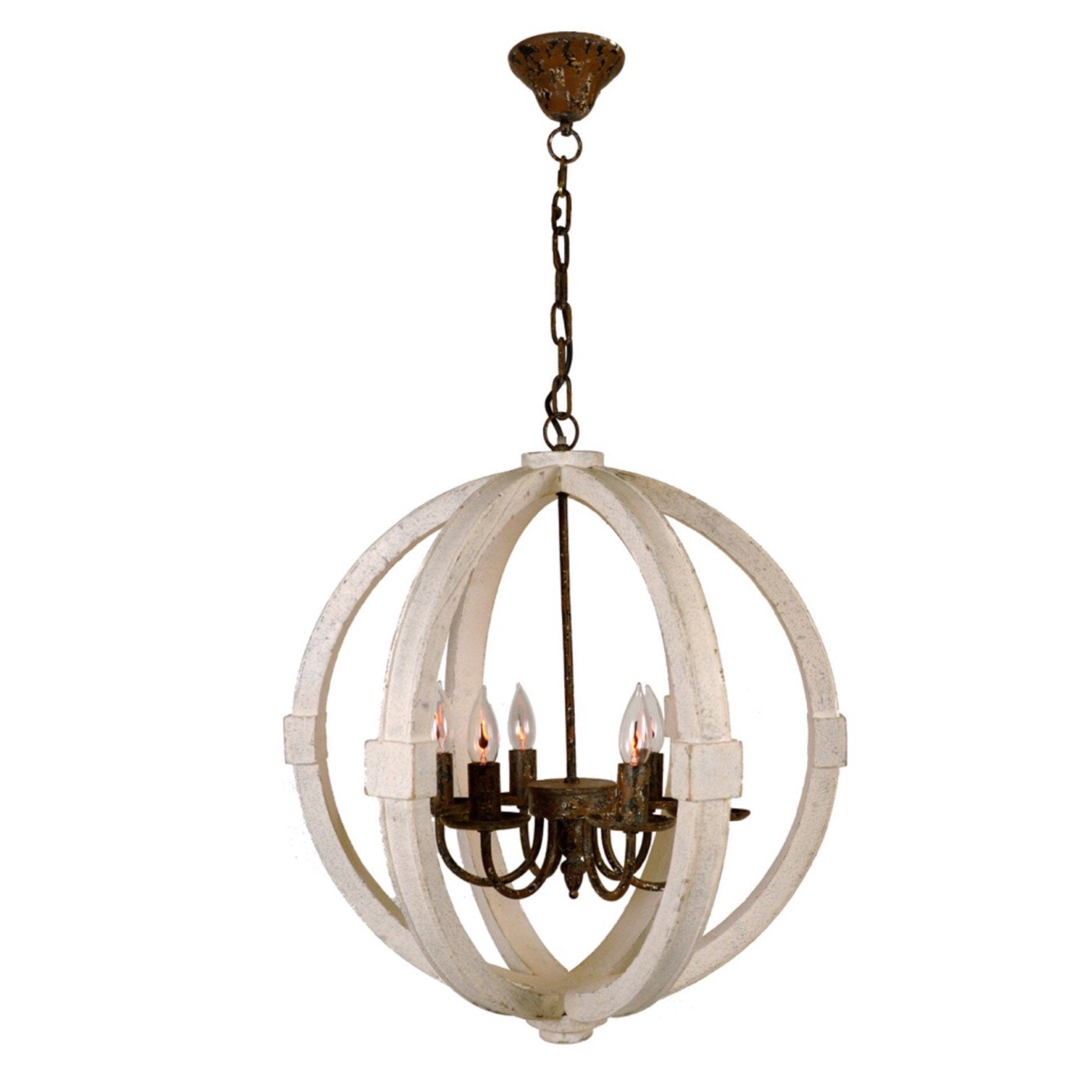 Rustic Orb Chandelier – Sarah Virginia Home
