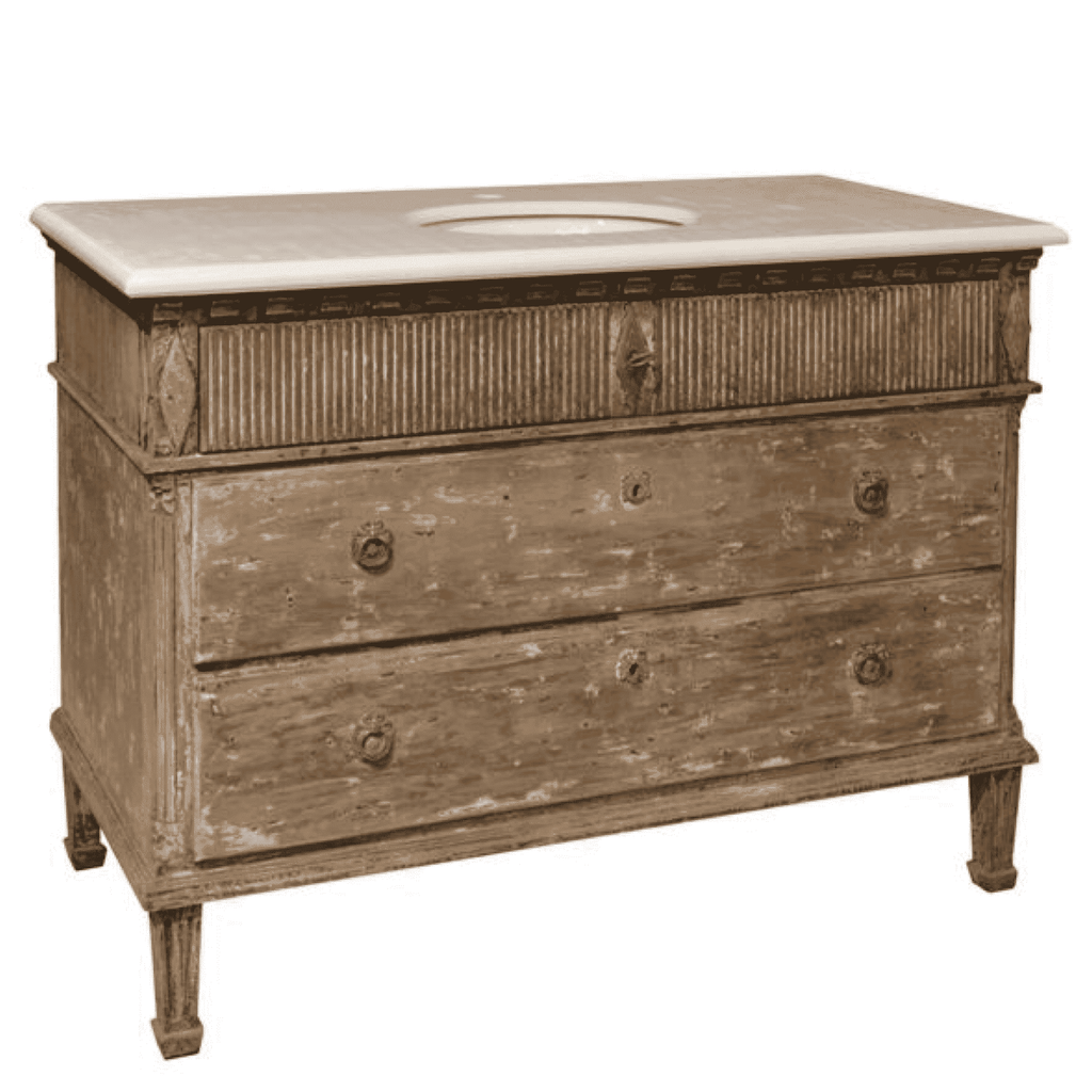 "46"" Antique Bathroom Vanity - Sarah Virginia Home"