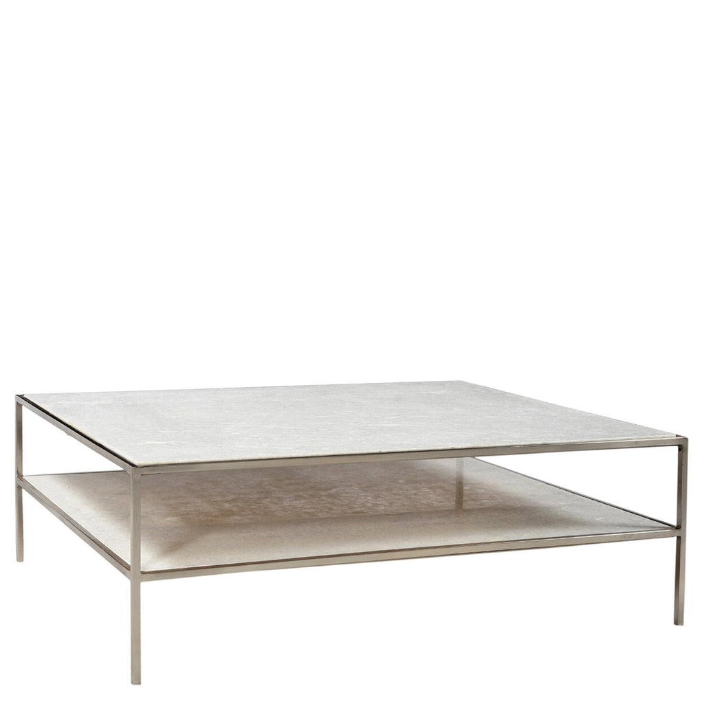 Brynn Coffee Table (Nickel) - Sarah Virginia Home