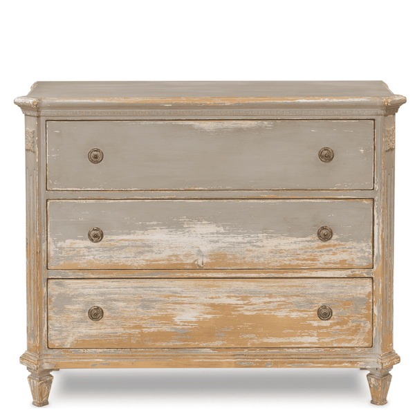 Distressed French Gray Dresser - Sarah Virginia Home