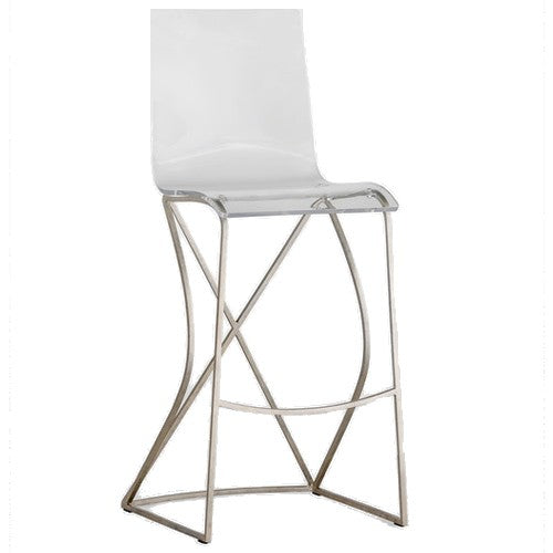 Andrea Stool-Silver - Sarah Virginia Home
