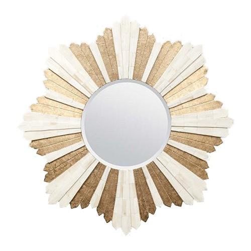 Marlow Starburst Mirror (Bone/Brass) - Sarah Virginia Home