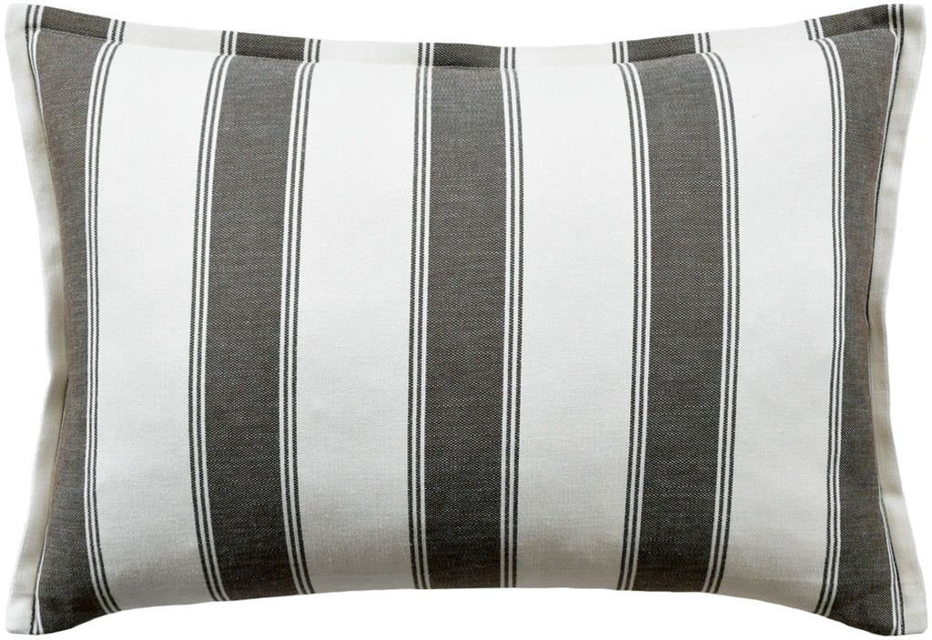 Rafe Stripe Pillow (Brown) - Sarah Virginia Home
