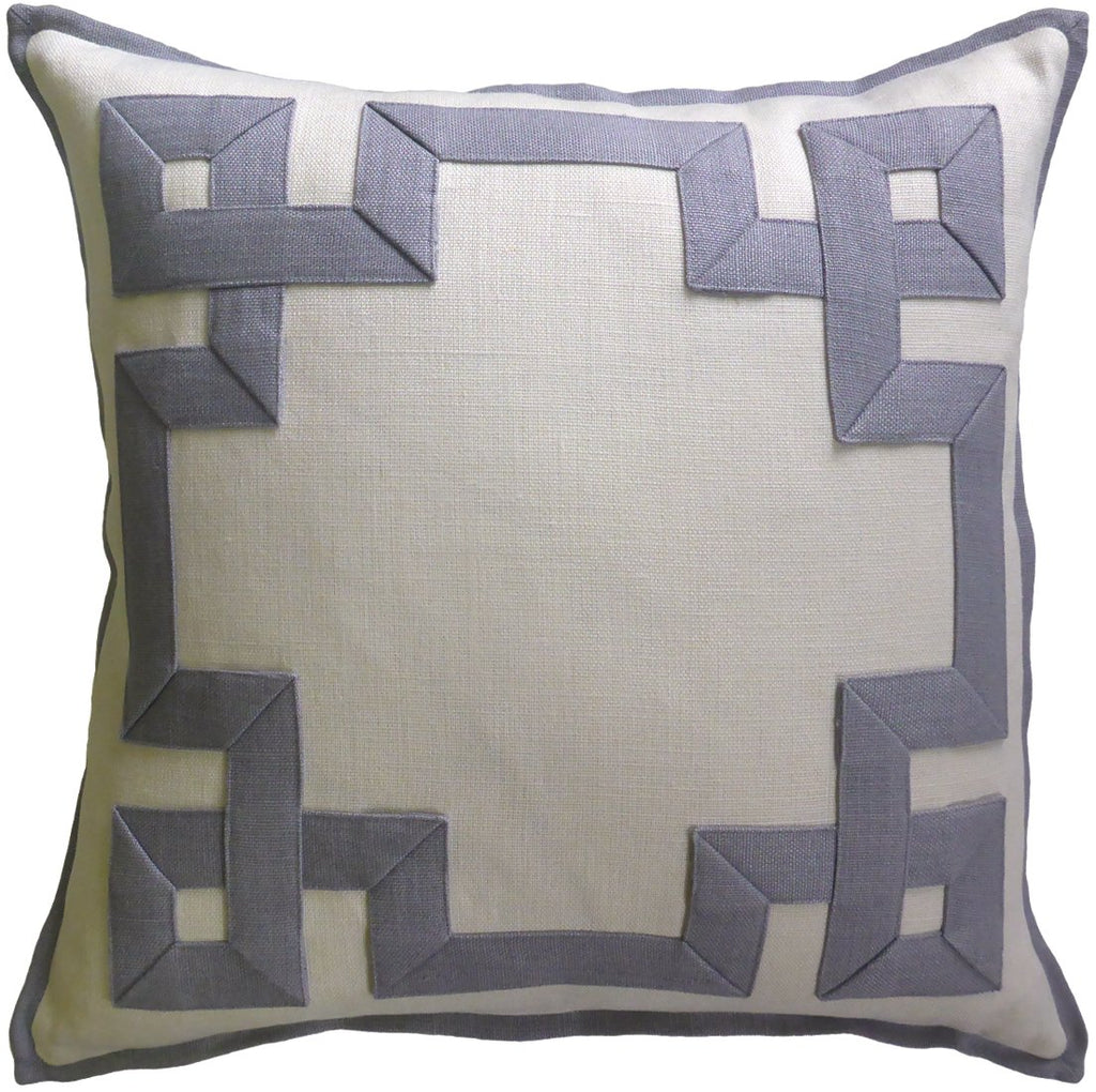Lavender Fretwork Pillow - Sarah Virginia Home