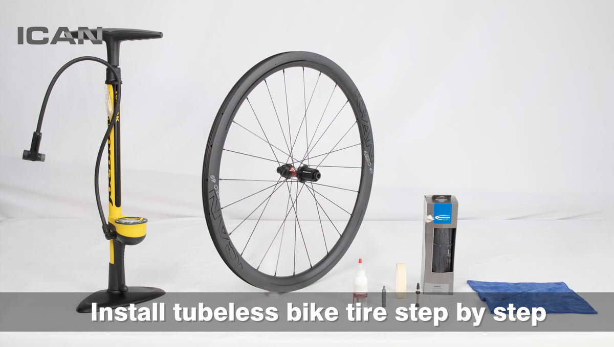 How to install tubeless tire step by step