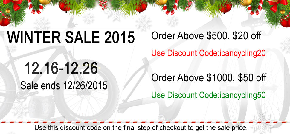 icancycling winter Sale 2015