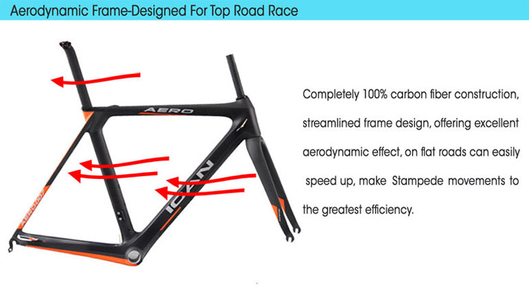 ICAN Aero Carbon Road Bike With Shimano Groupset 6800 – icancycling