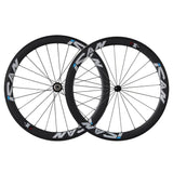 ICAN 50mm Carbon Road Bike Wheelset Sapim CX-Ray Spokes Only 1460g ( Upgraded Version Wheelset ) - icancycling