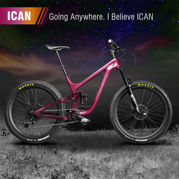 ICAN 29er Carbon Enduro Bike Mountain Bike P9 Rainbow Painting 150mm Travel