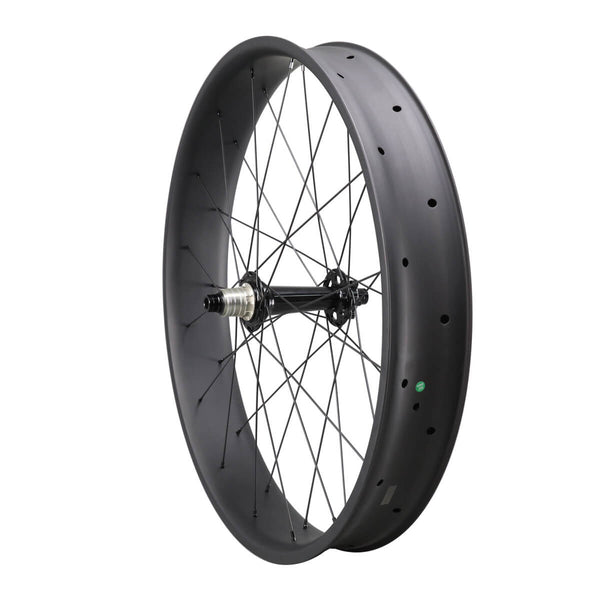 ICAN 26er Carbon Fat Bike Wheelset 90mm Clincher Tubeless Ready Mozzi Powerway M74 Anteriore 15x150mm Posteriore 12x190 / 197mm senza logo