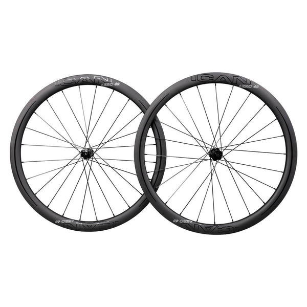 ICAN AERO 40 clincher tubeless ready carbon road bike disc wheelset with DT350s centerlock hubs 25mm wide