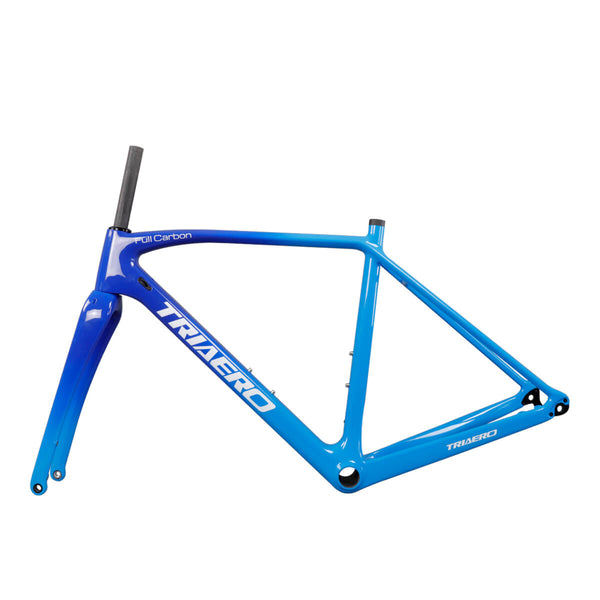 Triaero Carbon Aero Cyclocross Bike Frameset  AC388 12x100, 12x142mm rear spacing Cyclocross Frame