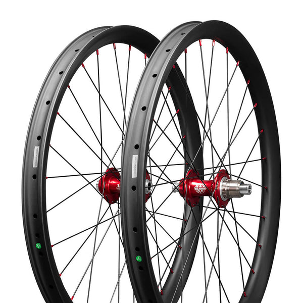 Bicicletta da montagna in carbonio ICAN 27.5er 35 o 40 mm Boost Wheels Mozzi WHITEINDUSTRIES Raggi tondi Sapim basic leader