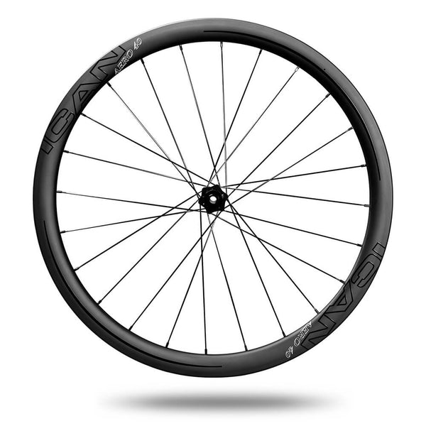 ICAN AERO 40 clincher tubeless ready carbon road bike disc wheelset with DT240s centerlock hubs 25mm wide