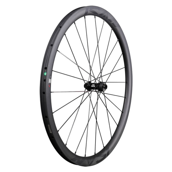ICAN Road Disc Wheelset Asymmetric 35C Clincher Tubeless Ready 29mm Wide Novatec 411/412SB hubs and Sapim CX Leader Round Spokes