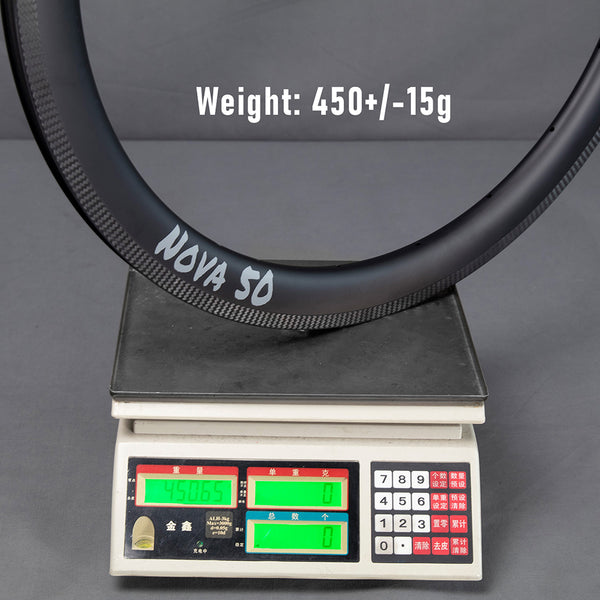 ICAN NOVA 50 Carbon Road Rim weight