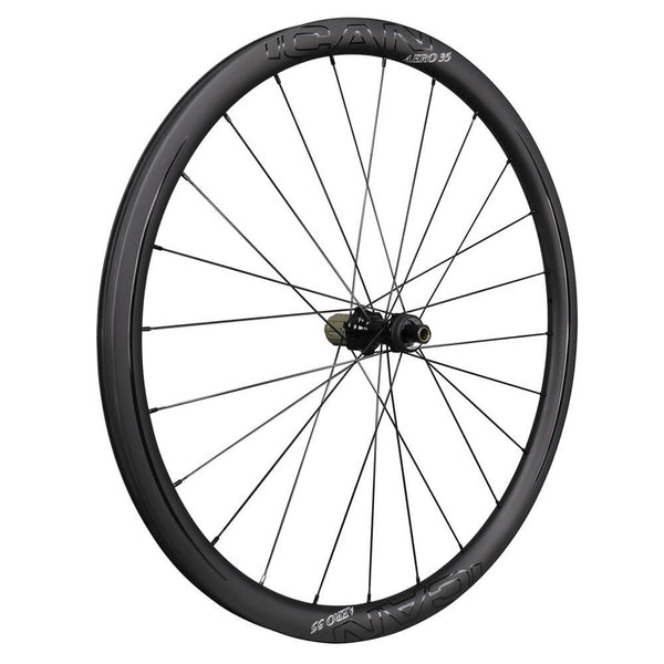ICAN AERO 35 Road Disc Wheels Clincher Tubeless Ready Novatec D411412SB Disc Hubs QR and Thru Available