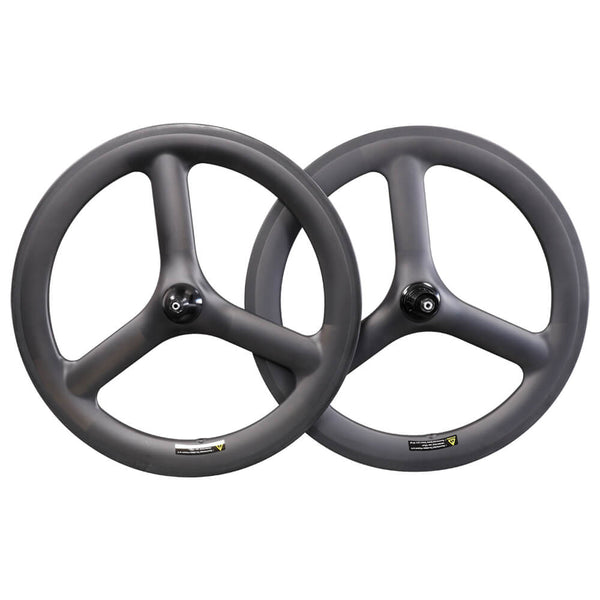 ICAN Carbon 20 inch 3 Spoke Wheelset for BMX bike /Folding bike/Road bike Clincher Tubeless Ready