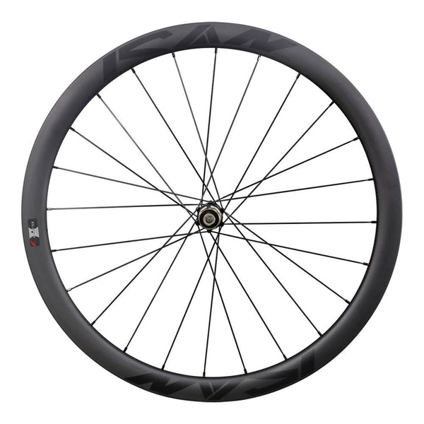 ICAN Road Disc Wheelset 40C Clincher Tubeless Ready 25mm Wide Novatec 411/412SB hubs and Sapim CX Leader Round Spokes