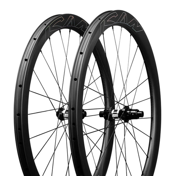ICAN Carbon Disc Road Bike Wheelset AERO 46 Disc DT240s/350s Hubs with Sapim CX-Ray Spokes