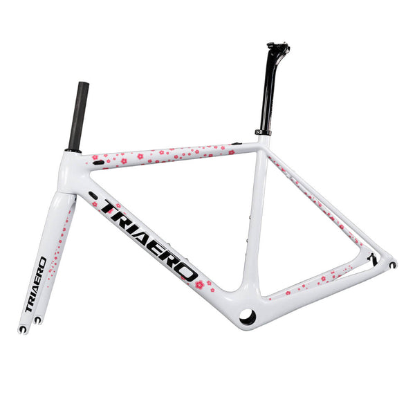 Carbon Super Light Road Bike Frame A2 white