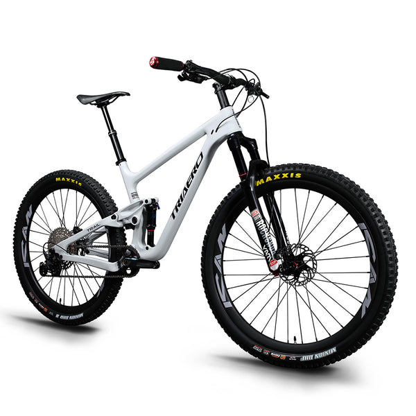 Triaero Carbon P1 Suspension MTB Bike Grey Painting