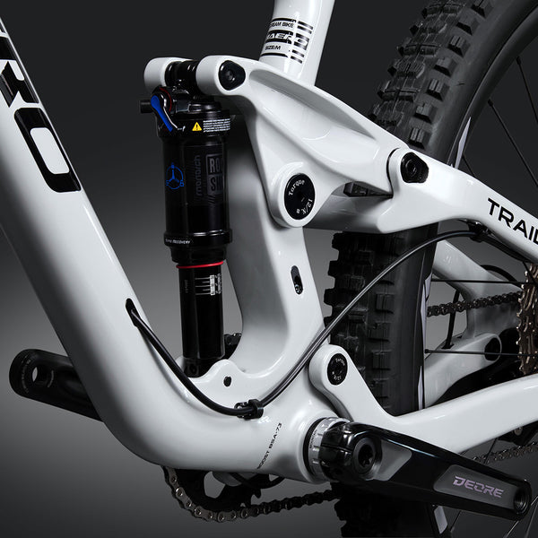 Triaero Carbon P1 Suspension MTB Bike Verniciatura grigia