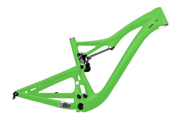 ICAN Bicycle Frames 15.5 inch / Green UD Matt 650B All Mountain Carbon Suspension Frame 150mm Travel