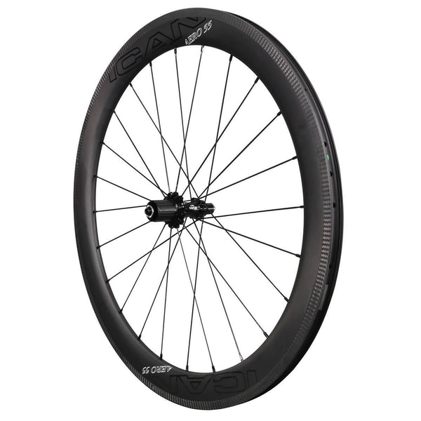 ICAN Wheels & Wheelsets Default Title AERO 55ICAN AERO 55 Road Wheels Clincher Tubeless Ready R01 Hubs 9x100mm 9x130mm