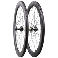 ICAN Wheels & Wheelsets QR(Front 9x100mm Rear 9x135mm) / Sapim CX-Ray Aero Spokes 55mm Disc Wheelset Fast & Light Series