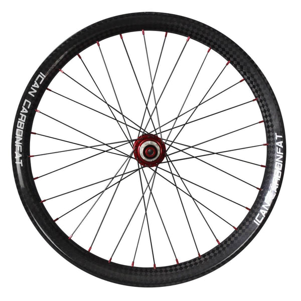 ICAN Wheels & Wheelsets UD Matt / Front 150mm/Rear 190mm / Shimano 10/11 Speed 26er Carbon fatbike Wheelset 65C
