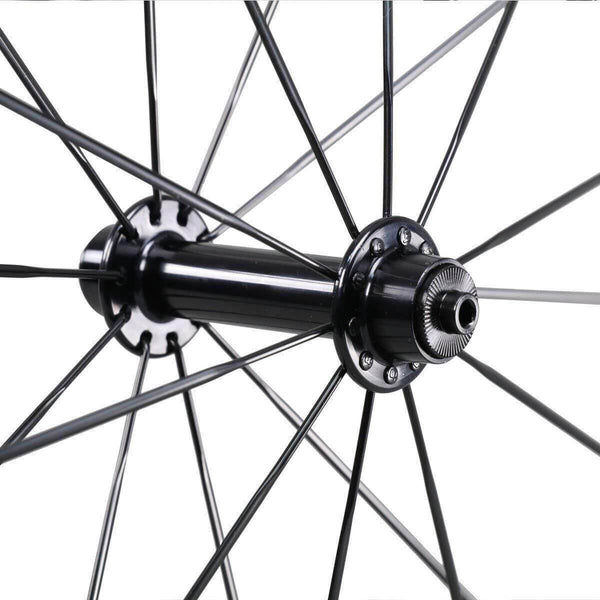 icancycling Wheels & Wheelsets UDM with Black Hubs 50mm Clincher Carbon Road Bike Wheelset with Sapim Spokes(Free Shipping and Taxes Free)
