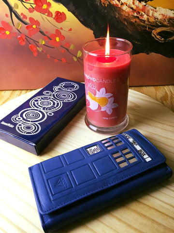 The Ultimate Whovian with Built in Blue LED Lights & RFID! - Diamond Wallets