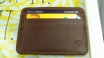 Adamas 1.0 Slim Diamond Wallet Dark Brown - Diamond Wallets