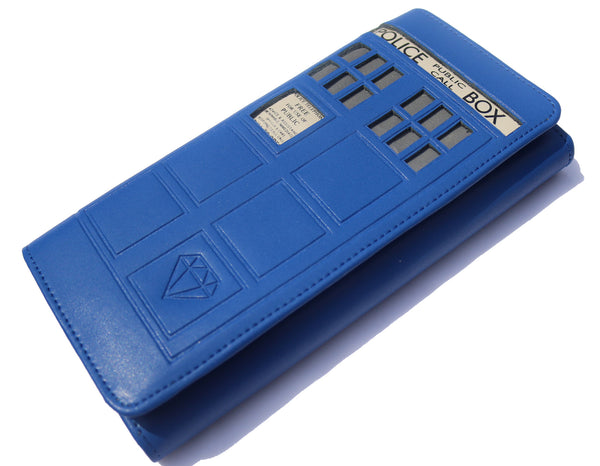 Handmade Premium Doctor Who 5.0 Tardis Wallet - Diamond Wallets