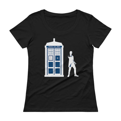 Tardis Ladies' Scoopneck T-Shirt - Diamond Wallets