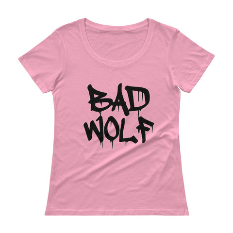 Bad Wolf Ladies' Scoopneck T-Shirt - Diamond Wallets