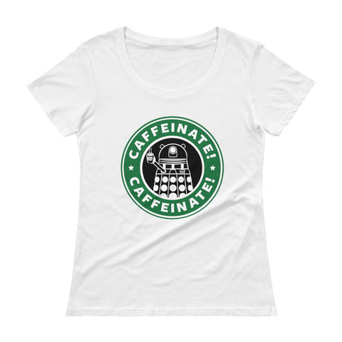 Caffeinate Ladies' Scoopneck T-Shirt - Diamond Wallets