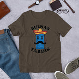 New Premium Doctor Who Buenas Tardis Tee - Diamond Wallets