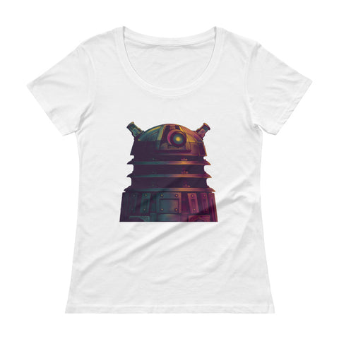 Dalek Ladies' Scoopneck T-Shirt - Diamond Wallets