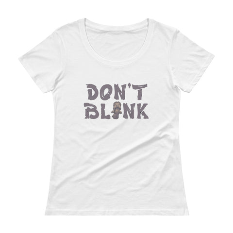 Don't Blink Ladies' Scoopneck T-Shirt - Diamond Wallets