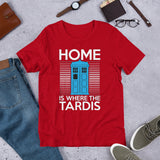 Home is where the Tardis T-Shirt - Diamond Wallets
