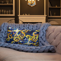 Van Gogh Exploding Tardis Premium Pillow - Diamond Wallets