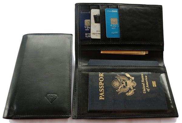 Adamas 1.0 Passport Wallet RFID Safe - Diamond Wallets