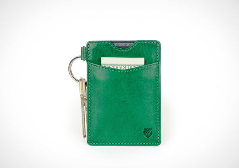 """Essential"" - Vegetable Tanned Leather RFID-blocking Key Wallet"