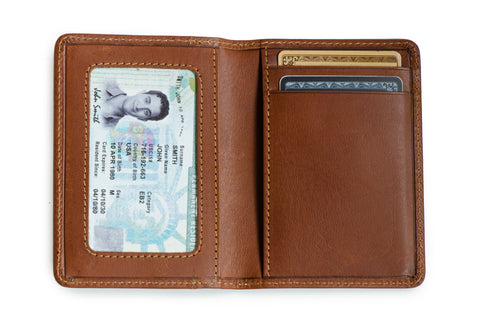 Long slim wallet 'Uptown' (Cognac color)