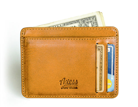 Mens leather wallets from Axess Front Pocket Wallets