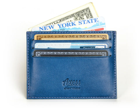 Card Wallet, Front Pocket Wallet in Tuscany leather from Axess
