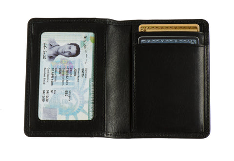 Long slim wallet 'Uptown' (Black color)